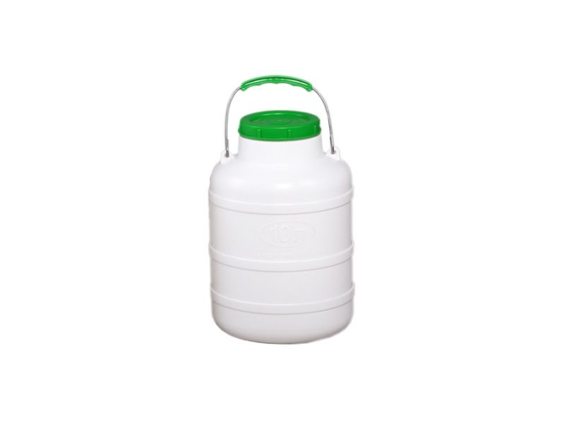 Plastic food grade jug 10 l, necktube 104 mm with o-ring