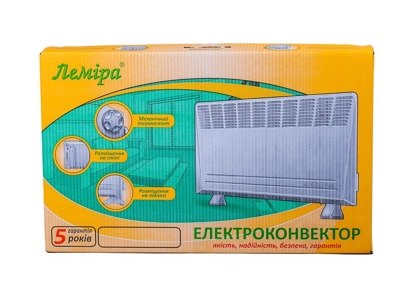 "Multifunctional electric convector heater ""Lemira"" EVUA – 1.5/220-(x)"