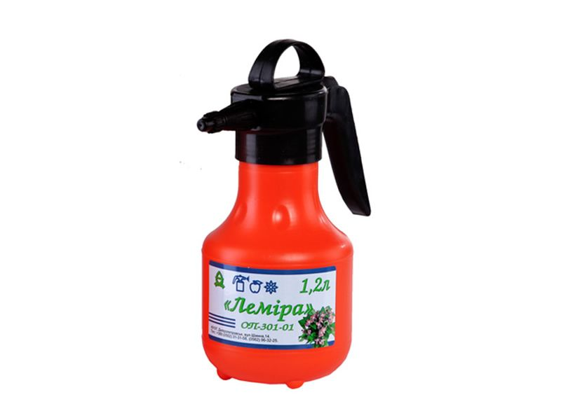 "Hand-operated sprayer ОP-301-01 ""Lemira""  1.2 litres complete with spare parts"