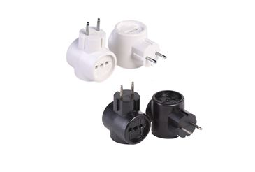Threefold Euro adapters
