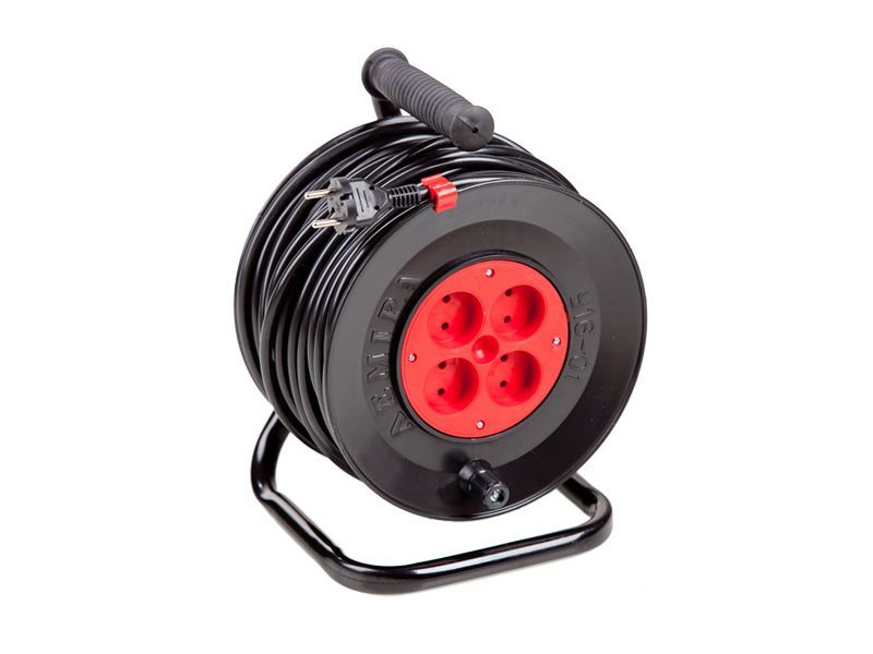 Portable power cord reel U16-01 PVS 2x2.5  50 m