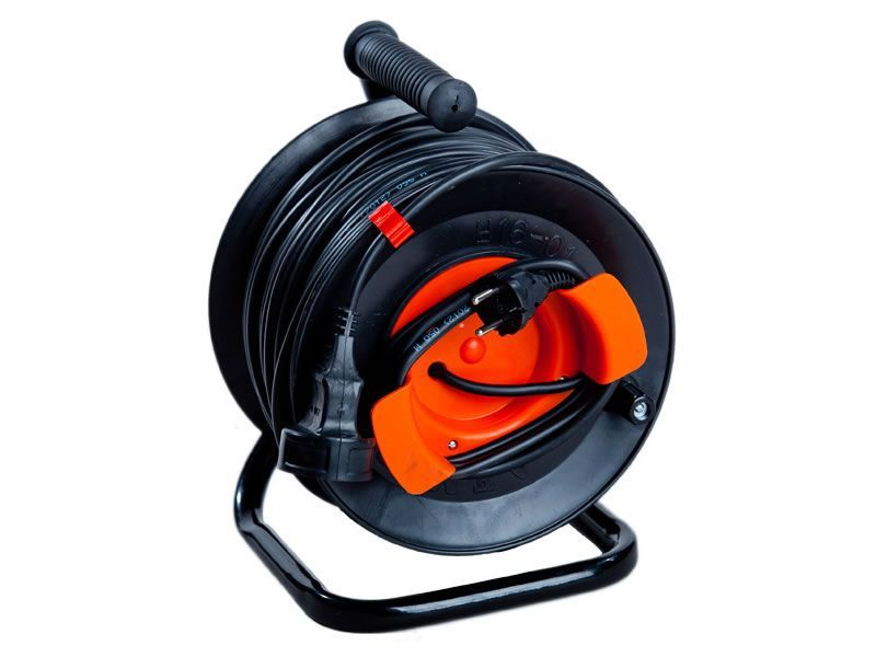 Portable power cord reel U16-03 PVS 2x2.5 with remote outlet    50 m