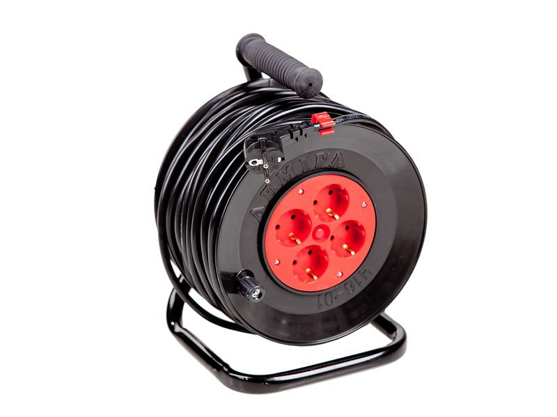 Portable power cord reel U16-01 PVS 2x2.5  25 m