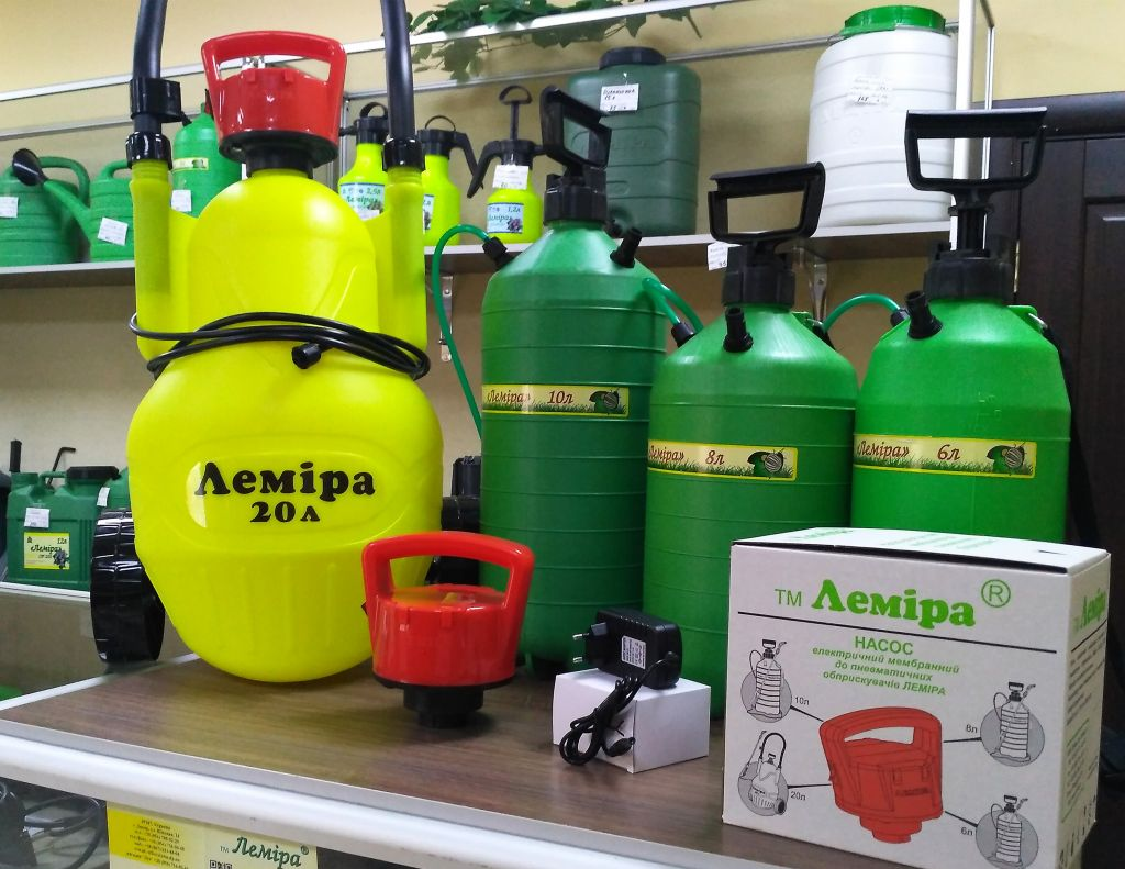 "New product TM ""Lemira"" for the new garden and garden season - electric diaphragm pump for pneumatic sprayers ""Lemira"""