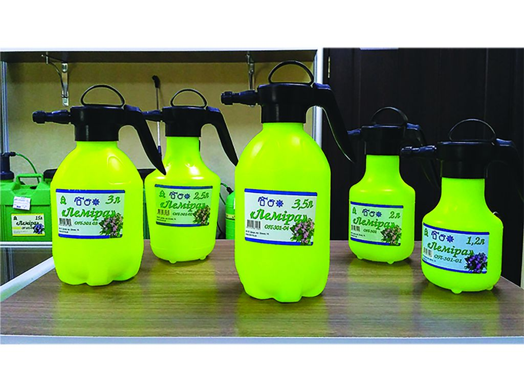 "The new volume of 3.5 liters in the lineup of manual sprayers ""Lemira""."